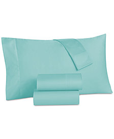 CLOSEOUT! Grace Home Cotton Reversible 500 Thread Count 4-Pc. King Sheet Set