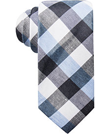 Ryan Seacrest Distinction™ Men's Cyprie Check Slim Tie, Created for Macy's