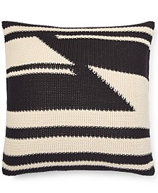 "Lauren Ralph Lauren Taylor Cotton Modern Knit 20"" Square Decorative Pillow"