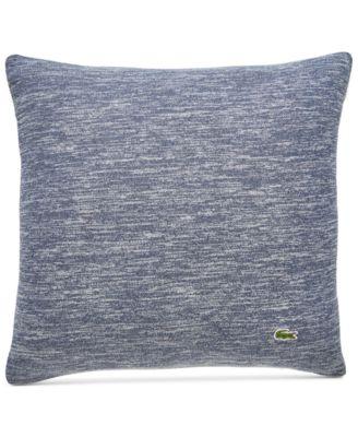 Lacoste Canvas Throw Pillow White//Light Blue