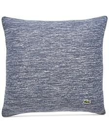 "Textured Knit Cotton 18"" x 18"" Decorative Pillow"