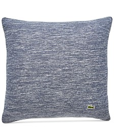 "Lacoste Home Textured Knit Cotton 18"" x 18"" Decorative Pillow"