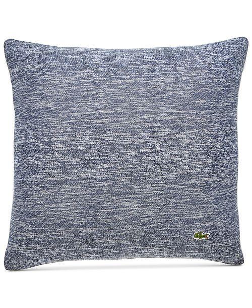 "Lacoste Home Textured Knit Cotton 18"" x 18"" Decorative Pillow"