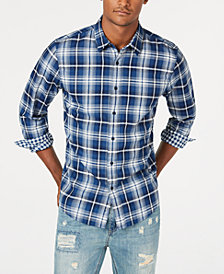 American Rag Men's Sam Double-Face Plaid Shirt, Created for Macy's