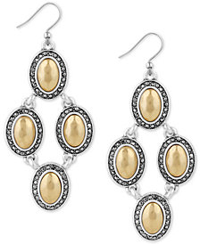 Lucky Brand Two-Tone Crystal Chandelier Earrings