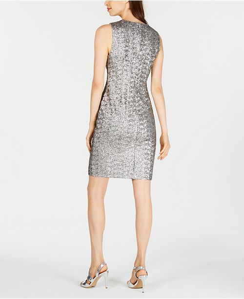 Beaded Gowns Tagged 100 200 The Deco Haus: Calvin Klein Sequined Sheath Dress & Reviews