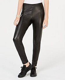 Ultra Flirt by Ikeddi Juniors' Faux-Leather Leggings