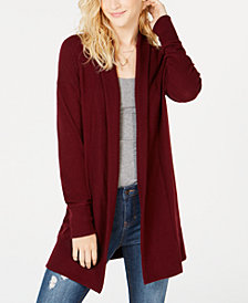 Hippie Rose Juniors' Hacci Open-Front Cardigan