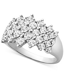 Wrapped in Love™ Diamond Honeycomb Ring (1-1/2 ct. t.w.) in 14k White Gold, Created for Macy's