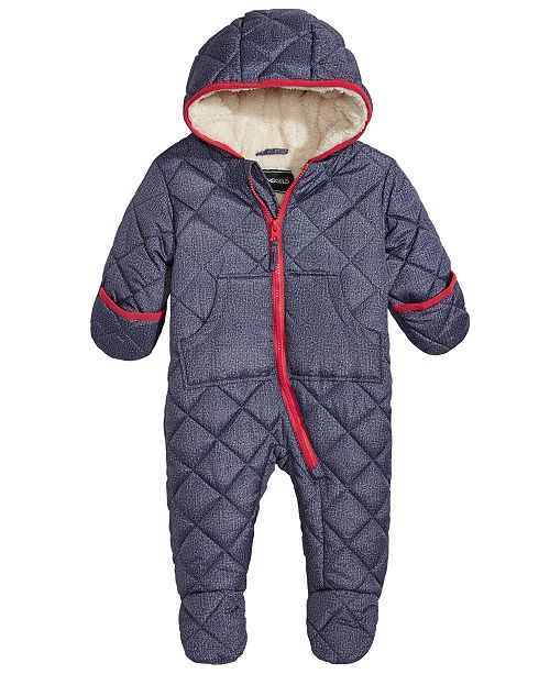 c9255e8747 ... S Rothschild   CO S. Rothschild Baby Boys Hooded Quilted Footed ...