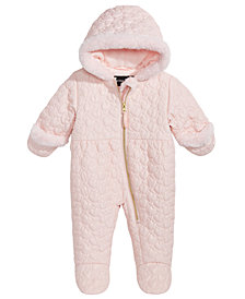 S. Rothschild Baby Girls Hooded Heart-Quilted Footed Pram