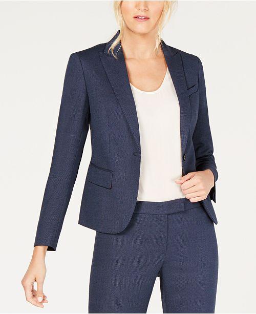 Marine a bouton un Women KleinCombinaison To Wear Work pantalon Anne Blue dsrCxthQ