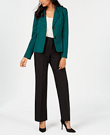 Le Suit Petite Two-Button Notched-Collar Pantsuit
