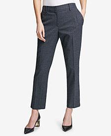 DKNY Glen Plaid Ankle Pants, Created for Macy's