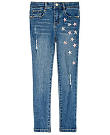 Epic Threads Little Girls Glitter Star Jeans, Created for Macy's