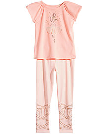 Epic Threads Little Girls Ballerina T-Shirt & Leggings, Created for Macy's