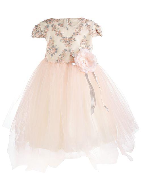 a1273b63b Bonnie Jean Little Girls Metallic Embroidered Dress   Reviews ...