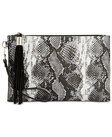 I.N.C. Molyy Snake Party Wristlet Clutch, Created for Macy's