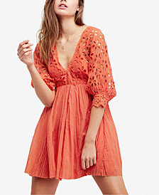 Free People Bella Note Eyelet Babydoll Dress