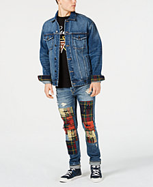 GUESS Men's Patchwork Ripped Skinny Jeans