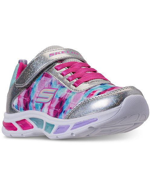 2c1de0c396bb ... Skechers Little Girls  S Lights  Litebeams - Dance N Glow Light Up  Running Sneakers ...