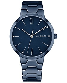 Women's Blue Stainless Steel Bracelet Watch 36mm Created for Macy's