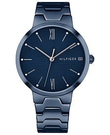Tommy Hilfiger Women's Blue Stainless Steel Bracelet Watch 36mm Created for Macy's
