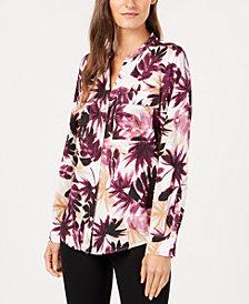 Calvin Klein Plus Size Printed Button-Front Shirt