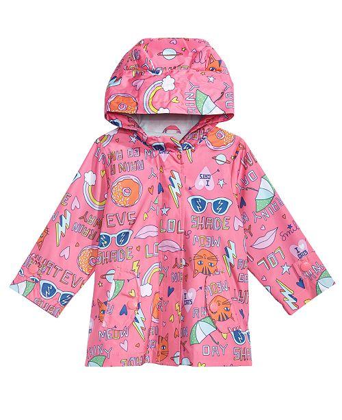e6bab4e33 Carter s Baby Girls Hooded Graffiti-Print Raincoat   Reviews - Coats ...