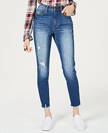 American Rag Juniors' Ripped High-Waisted Ankle-Length Skinny Jeans, Created for Macy's