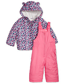 Carter's Baby Girls 2-Pc. Floral-Print Snowsuit