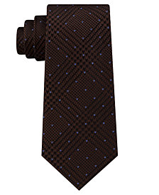 Michael Kors Men's Dotted Glen-Check Silk Tie