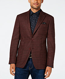 Tallia Men's Big & Tall Slim-Fit Brick Melange Sport Coat