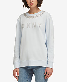 DKNY Embellished Logo Sweatshirt, Created for Macy's