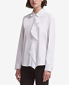 DKNY Ruffled Shirt, Created for Macy's