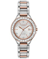 Citizen Eco-Drive Women s Silhouette Crystal Two-Tone Stainless Steel  Bracelet Watch 31mm 08d27fb5a