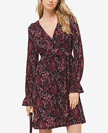 MICHAEL Michael Kors Printed Flounce-Trim Dress, In Regular & Petite Sizes