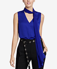 RACHEL Rachel Roy Jasper Tie-Neck Top, Created for Macy's