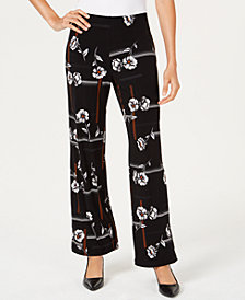 Alfani Petite Printed Wide-Leg Pants, Created for Macy's
