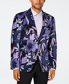 Tallia Men's Slim-Fit Purple/Blue Floral Sport Coat
