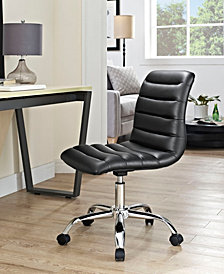 Modway Ripple Armless Mid Back Vinyl Office Chair