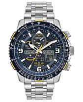 3a6a6dfad Citizen Eco-Drive Men's Analog-Digital Promaster Blue Angels Skyhawk A-T  Stainless Steel Bracelet