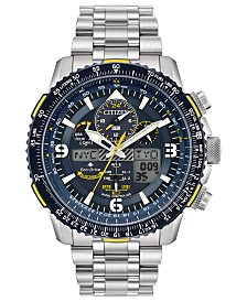 Citizen Eco-Drive Men's Analog-Digital Promaster Blue Angels Skyhawk A-T Stainless Steel Bracelet Watch 46mm