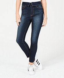Tinseltown Juniors' Foldover Skinny Jeans