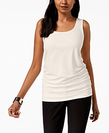 Scoop Neck Ruched Tank Top, Created for Macy's