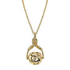 2028 Gold-Tone 3-Sided Spinner Locket Necklace 30""