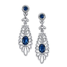 2028 Silver-Tone Montana Filigree Drop Earrings