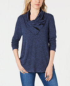 Style & Co Draped-Neck Top