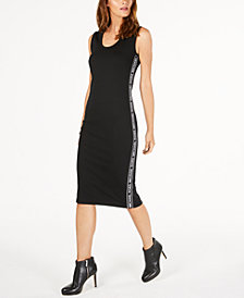 MICHAEL Michael Kors Logo-Stripe Dress