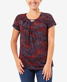 NY Collection Printed Stretch Top, a Macy's Exclusive